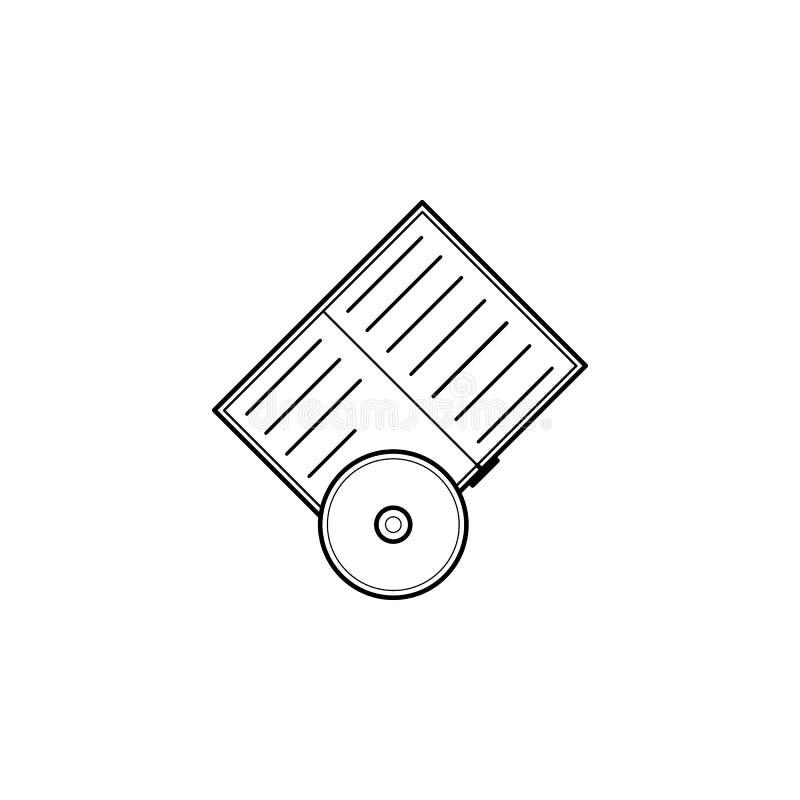 Livre et icône CD illustration de vecteur