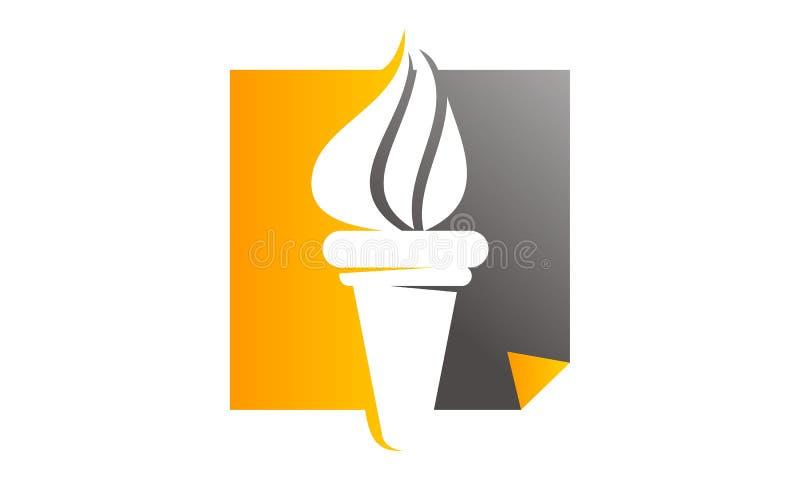 Livre et stylo de torche illustration stock