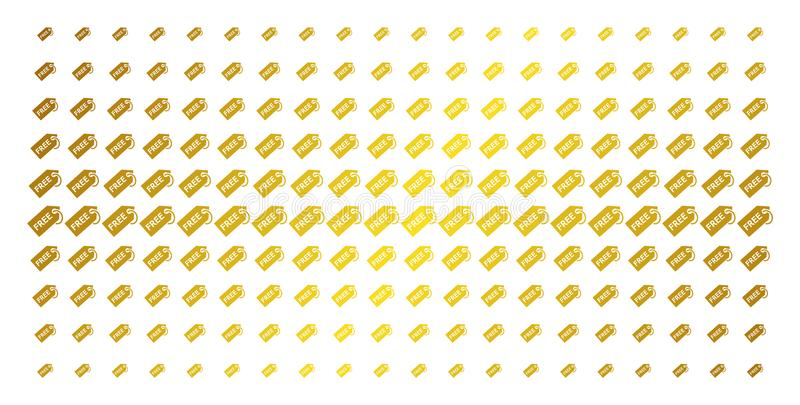 Livre a grade de intervalo mínimo dourada da etiqueta ilustração do vetor