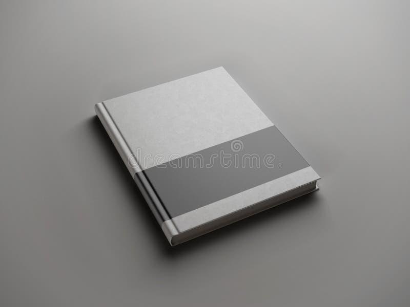 Livre gris avec la bande noire image libre de droits