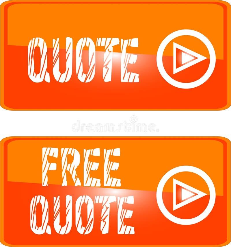 Livre a laranja da tecla do Web das citações ilustração royalty free