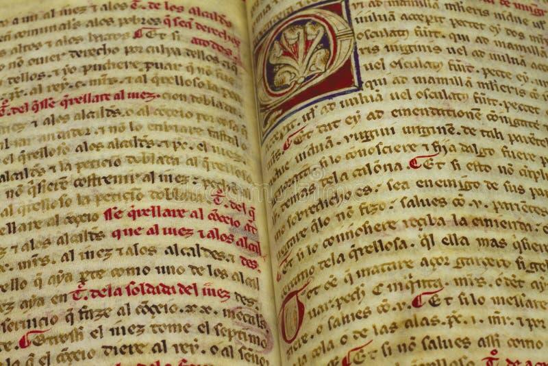 Livre médiéval photos libres de droits