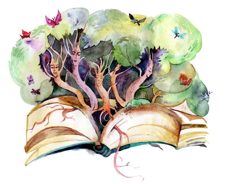 Livre magique illustration de vecteur