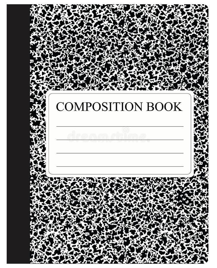 Livre noir de composition illustration stock