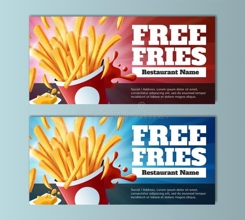 Livre o comprovante das fritadas ilustração stock