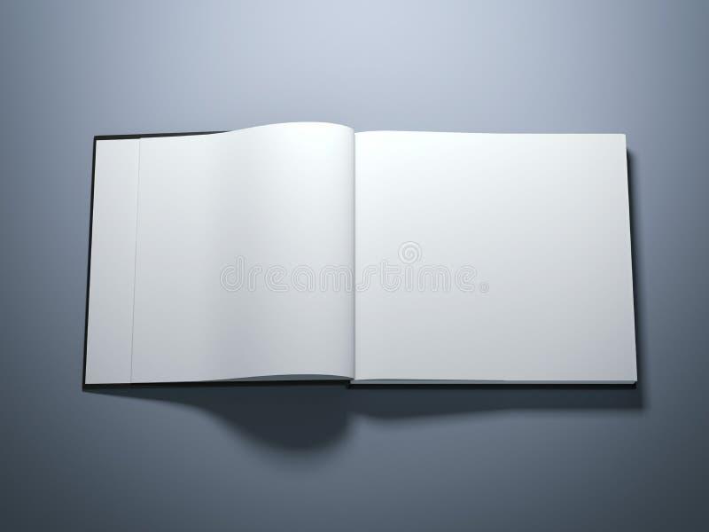 Livre ouvert avec les pages blanc image libre de droits