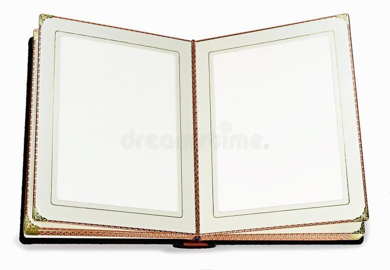 livre ouvert avec les pages vides et cadre d coratif pour le texte photo stock image du. Black Bedroom Furniture Sets. Home Design Ideas
