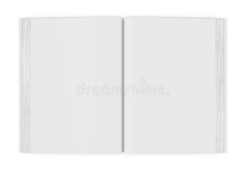 Livre ouvert de blanc blanc sur le fond blanc images stock