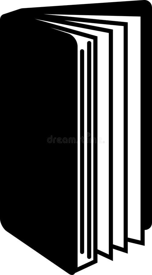 Livre ouvert de position simple avec le vecteur editable d'illustration d'icône de pages dans le noir illustration stock