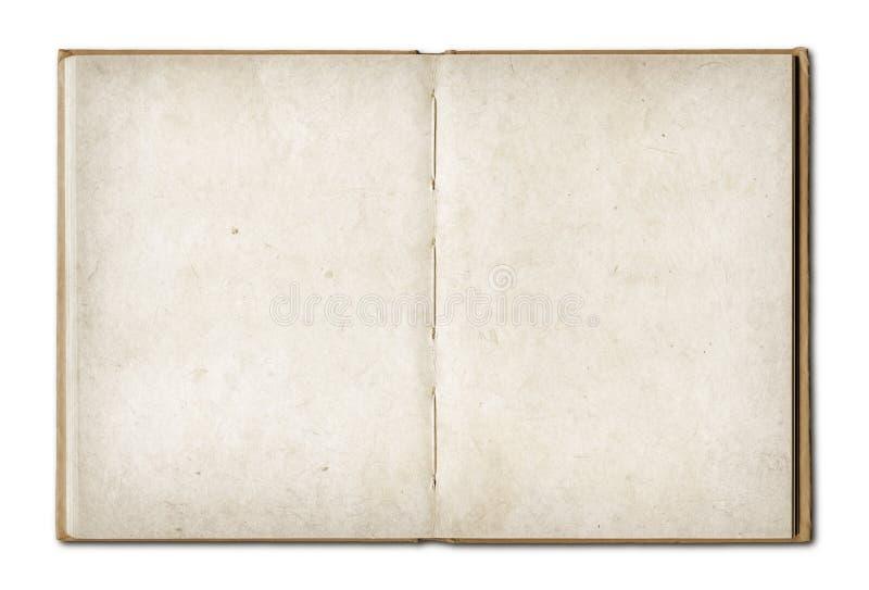 Livre ouvert de vintage d'isolement sur le fond blanc images stock