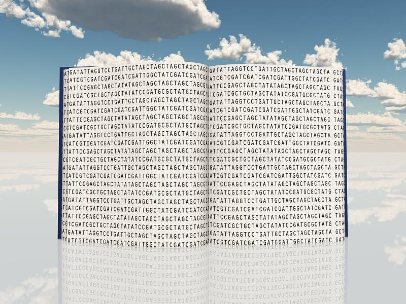 Livre rempli de code génétique illustration stock