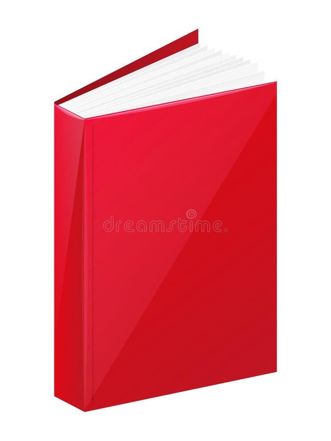 Livre rouge illustration stock
