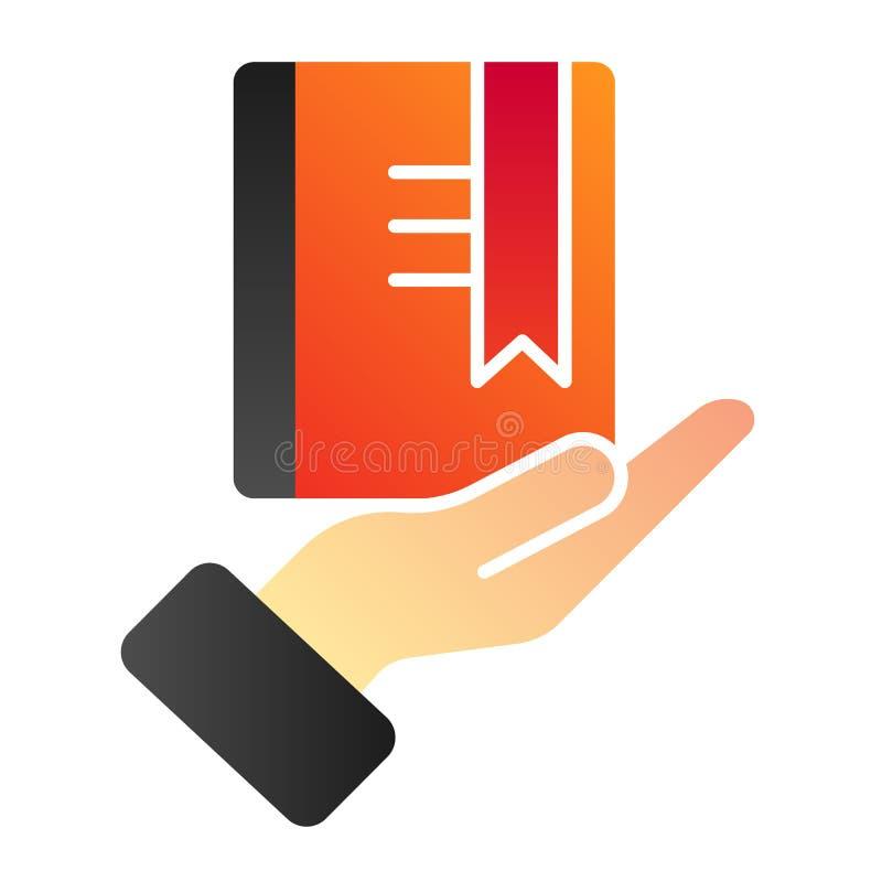 Livre rouge avec l'ic?ne plate de rep?re Icônes de couleur de la connaissance dans le style plat à la mode Livre dans la concepti illustration de vecteur