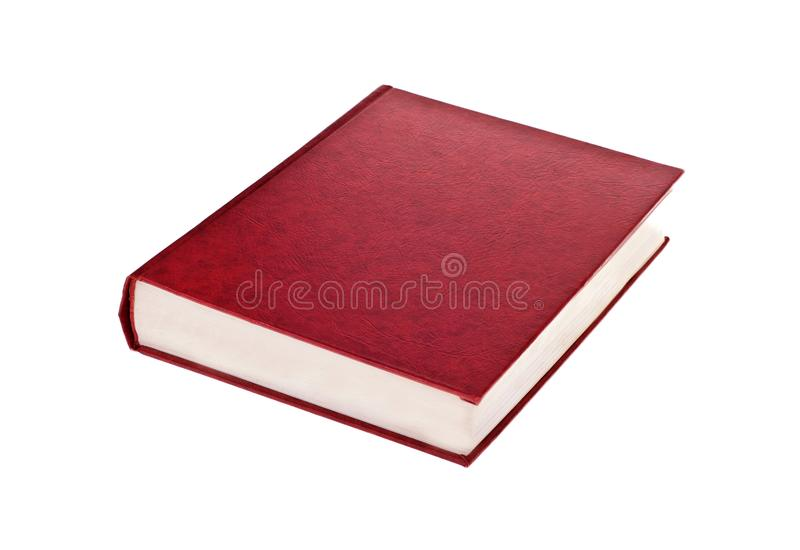 Livre rouge simple photo stock