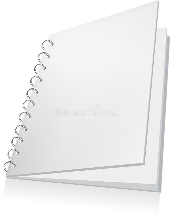 Livre spiralé blanc illustration de vecteur