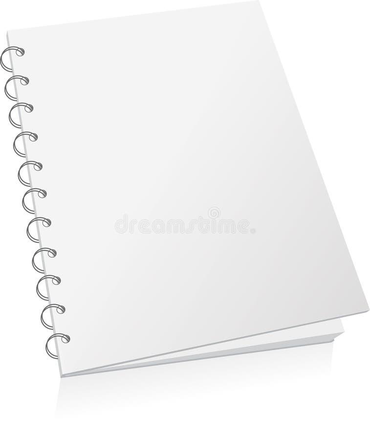 Livre spiralé blanc illustration libre de droits