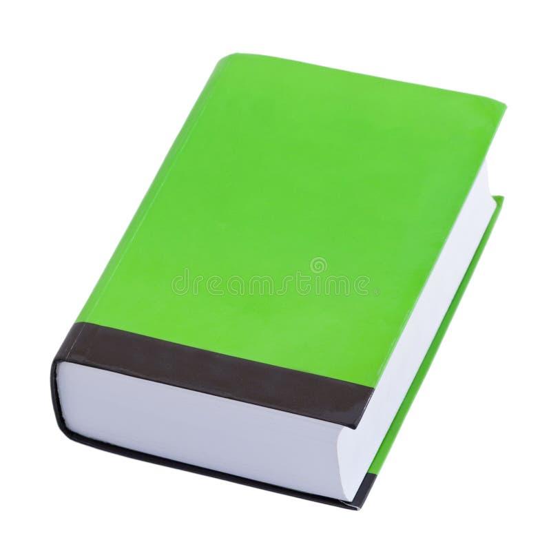 Livre vert avec le cache blanc photos libres de droits