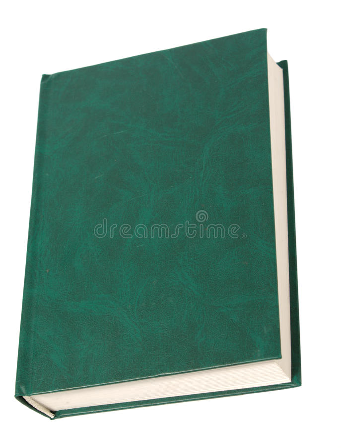 Livre vert blanc image stock