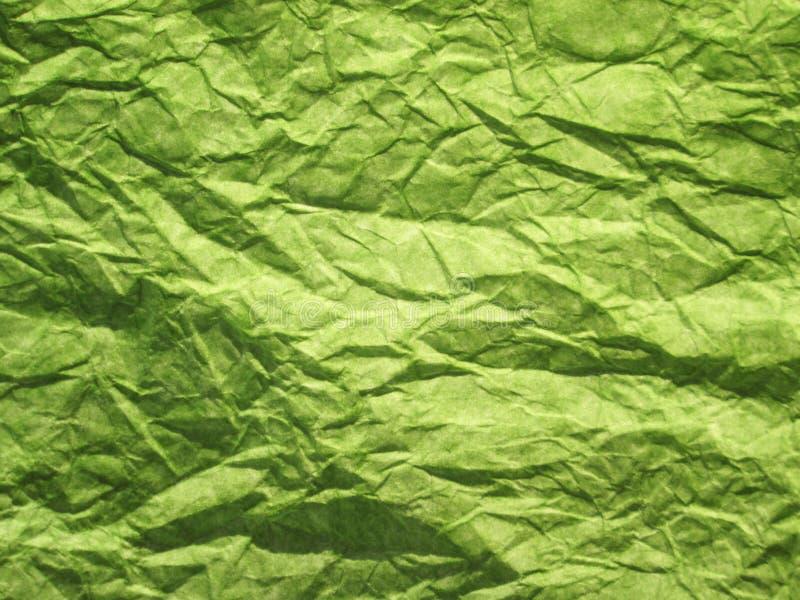Livre vert chiffonné image libre de droits