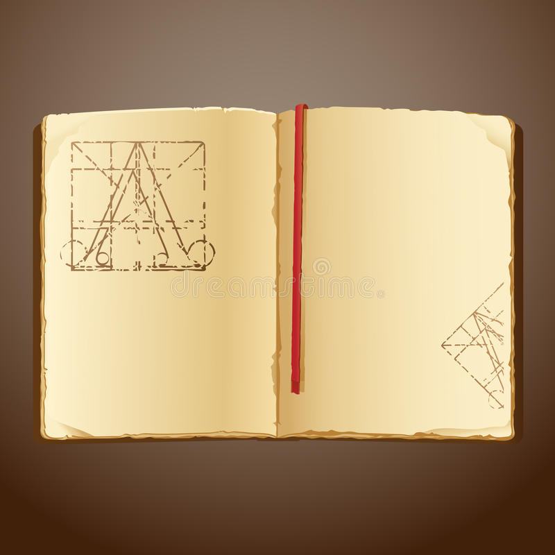 livre vieux illustration stock