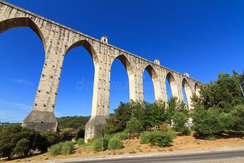 Livres Лиссабон мост-водовода стоковая фотография