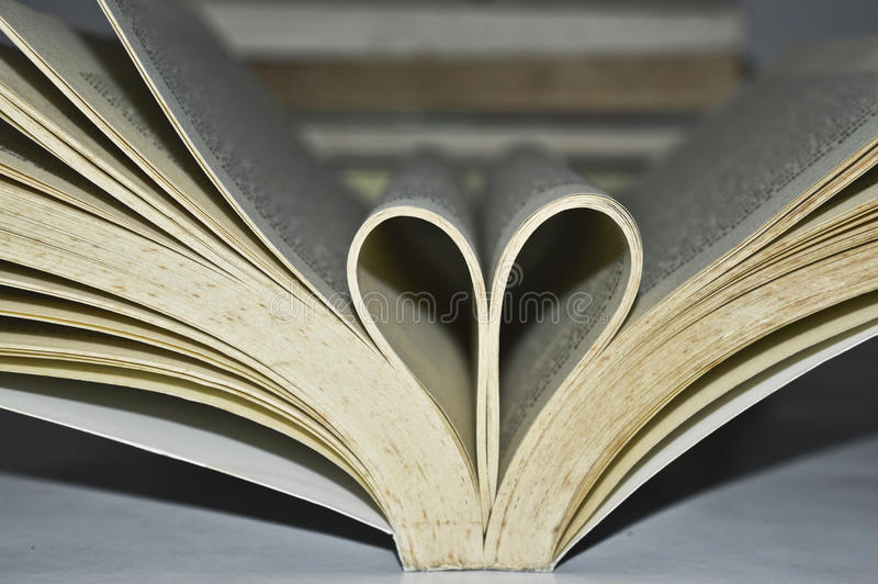 Livres avec l'amour et les fleurs photo stock