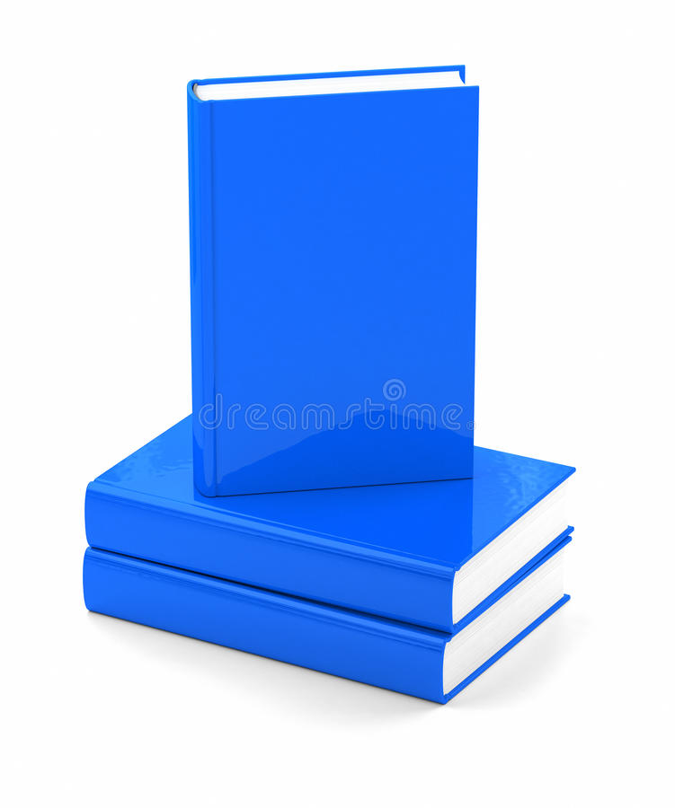 Livres bleus au-dessus de blanc illustration libre de droits
