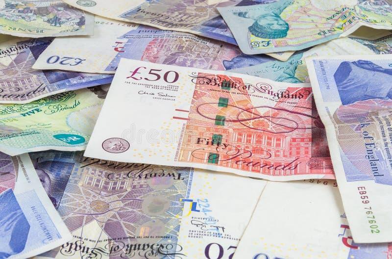 Livres britanniques de fond de billets de banque photographie stock