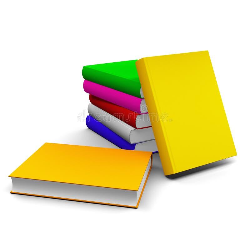 Livres colorés photo stock