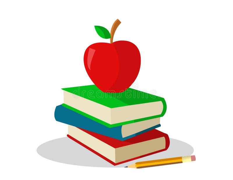 Livres colorés pour l'école illustration stock