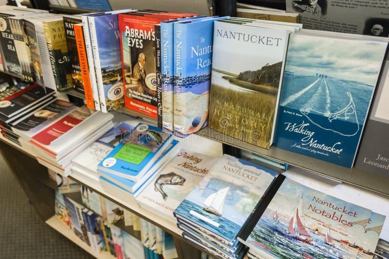 Livres concernant Nantucket photo libre de droits