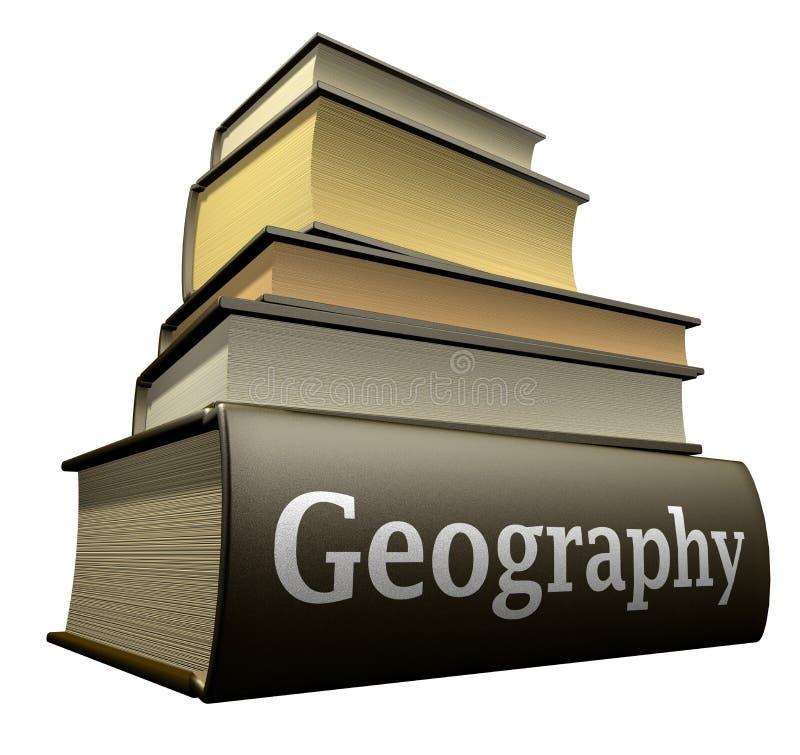 Livres d'éducation - géographie illustration libre de droits
