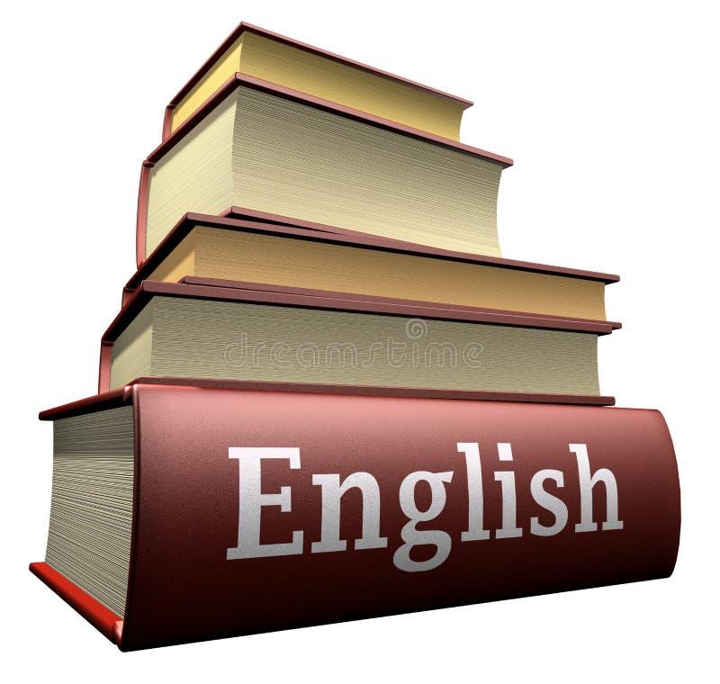 Livres d'éducation - les anglais illustration stock