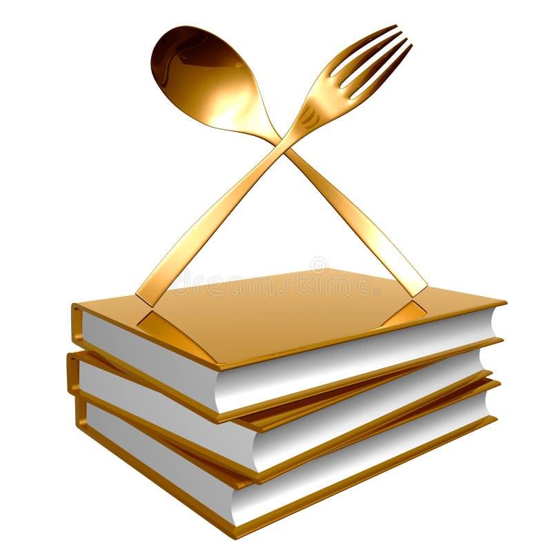Livres d'or concernant le graphisme culinaire illustration de vecteur