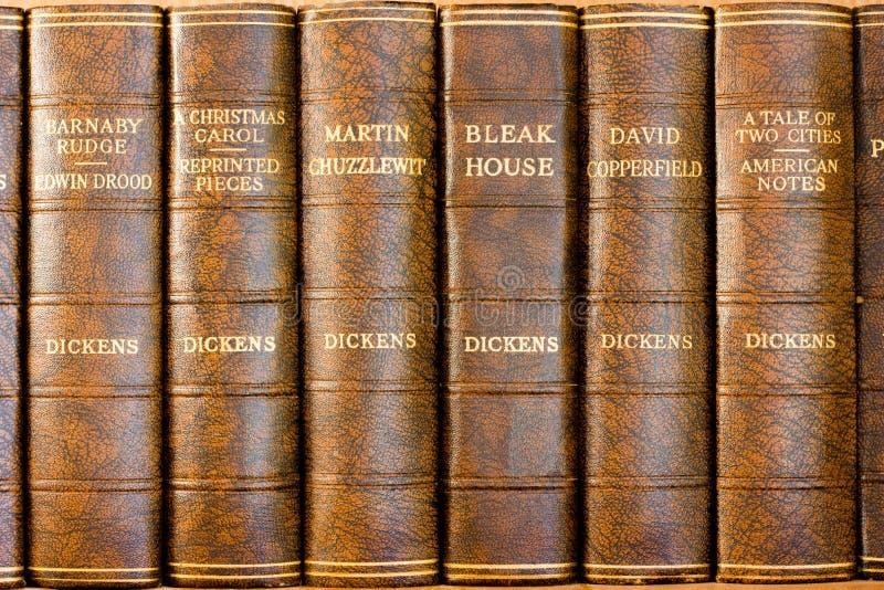 Livres de Charles Dickens photographie stock