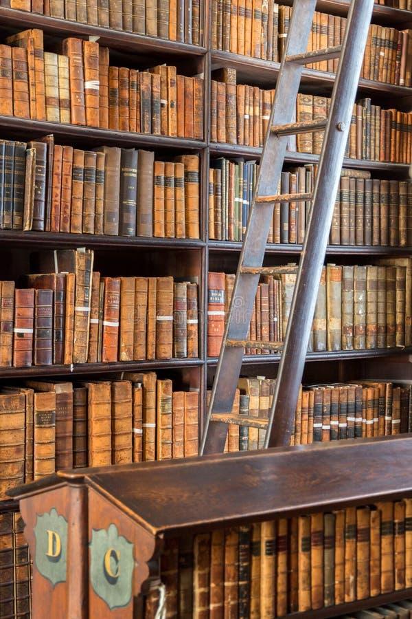 Livres de Dublin Trinity College de bibliothèque image libre de droits
