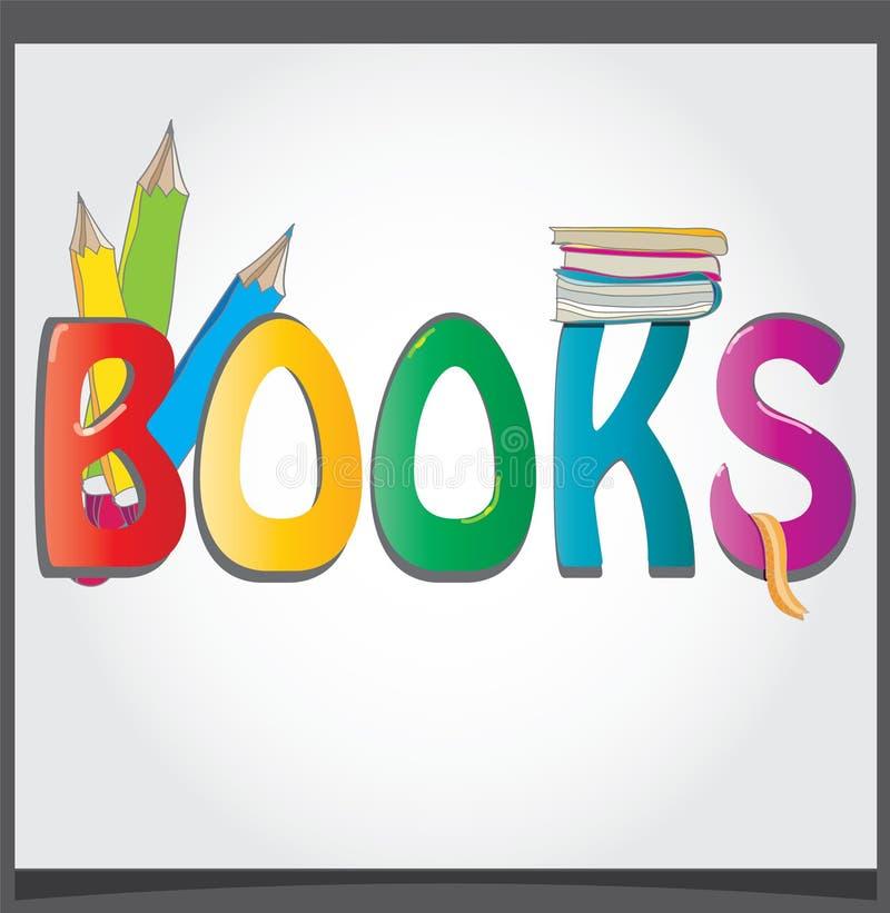Livres de logo illustration stock