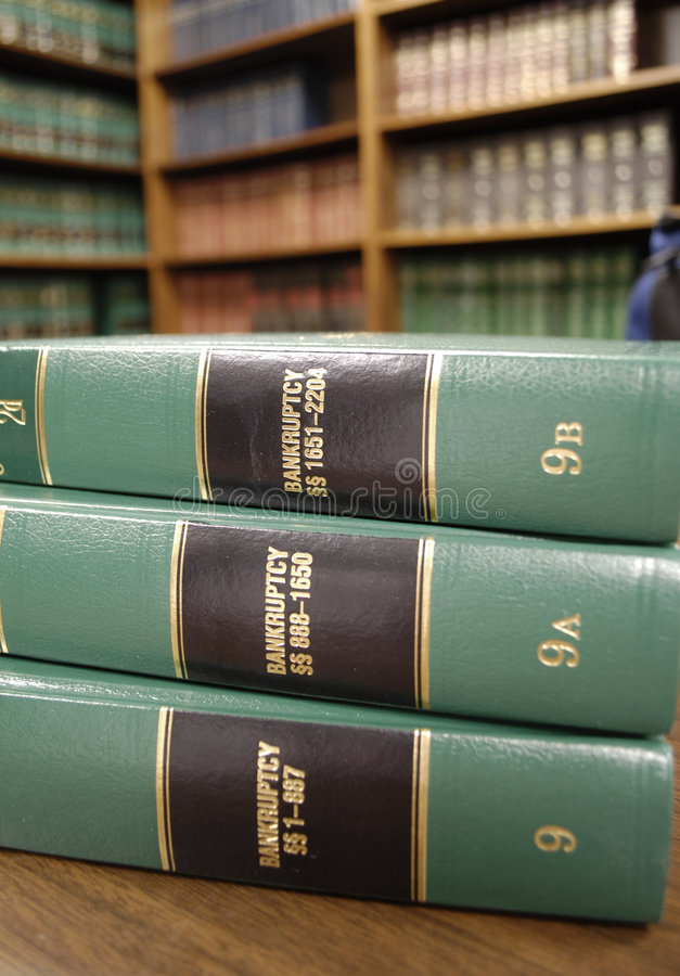 Livres de loi sur la faillite images libres de droits