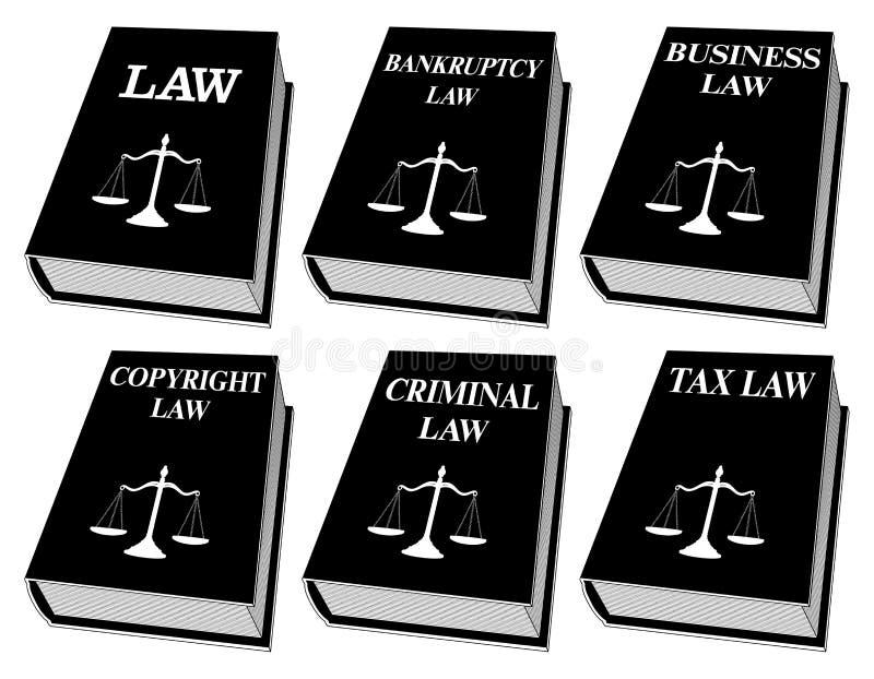 Livres de loi - une couleur illustration de vecteur