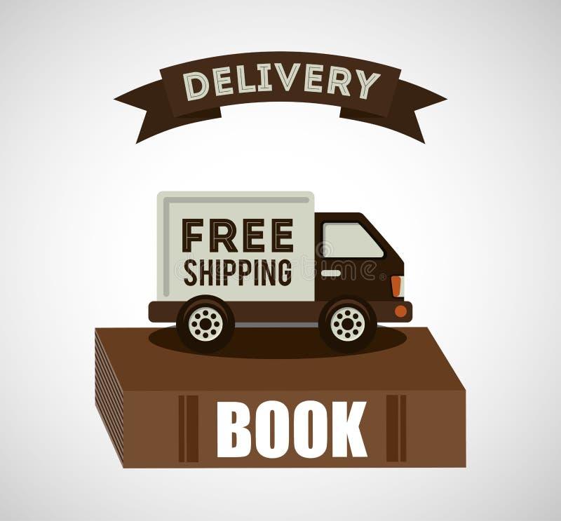 Livres de service de distribution illustration stock