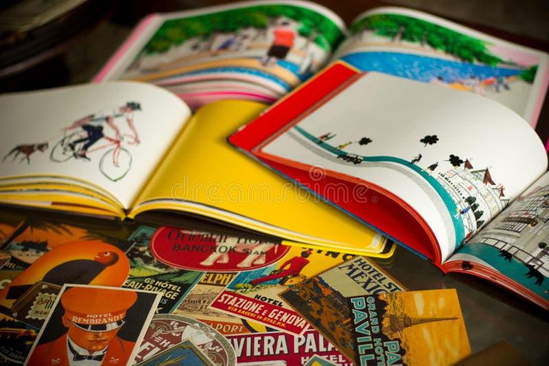 Livres de voyage photos stock
