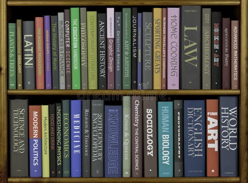 Livres, divers sujets image libre de droits