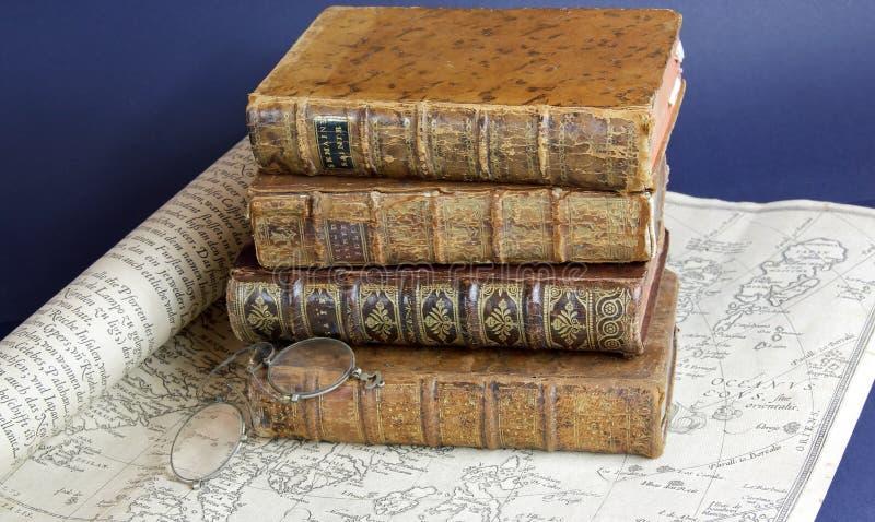 Livres du siècle 18 image libre de droits