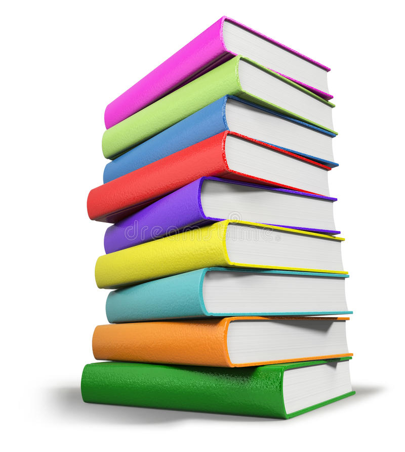 Livres empilés illustration de vecteur