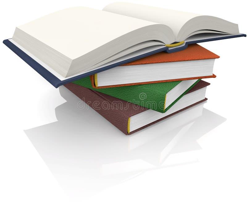 Livres empilés illustration libre de droits