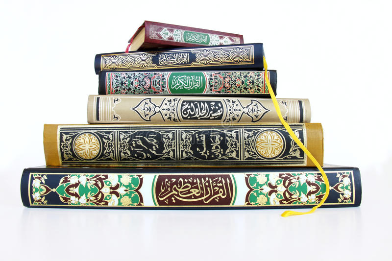 Livres islamiques photos libres de droits