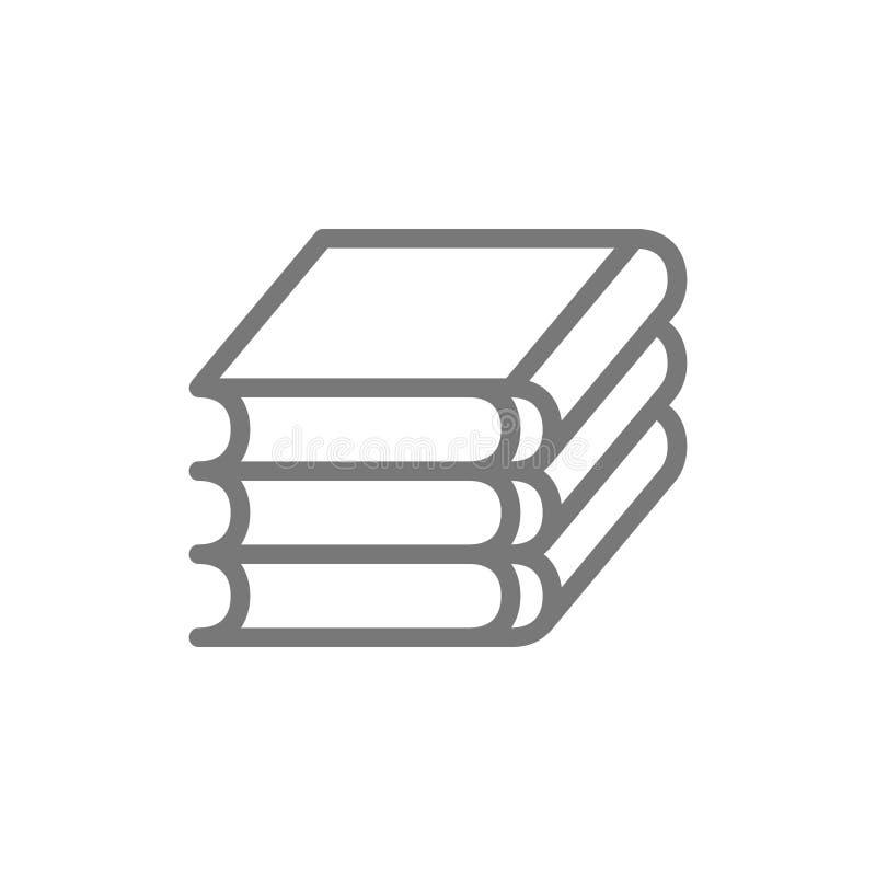 Livres, ligne de programmations de loi icône illustration stock