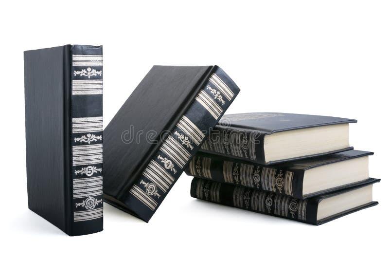 Livres noirs photos stock
