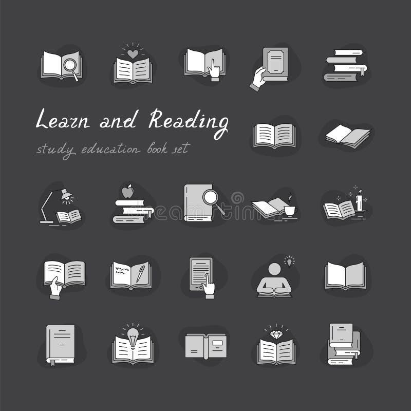 Livres réglés dans le style plat de conception d'isolement sur le fond blanc, illustration de vecteur illustration libre de droits