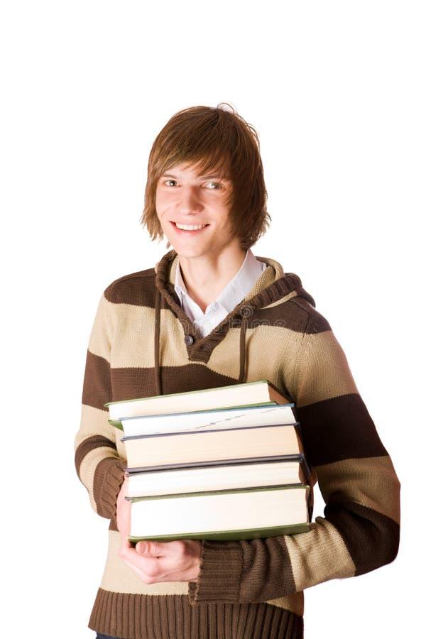 livres retenant l'étudiant photos libres de droits